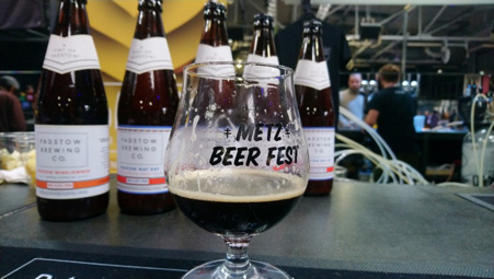Metz Beer Festival Glass With Padstow Brewery Beer
