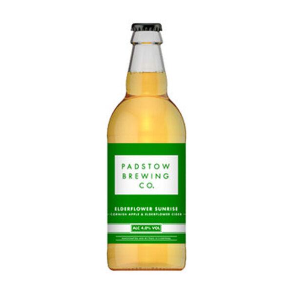 Padstow Elderflower Sunrise Cider Bottle