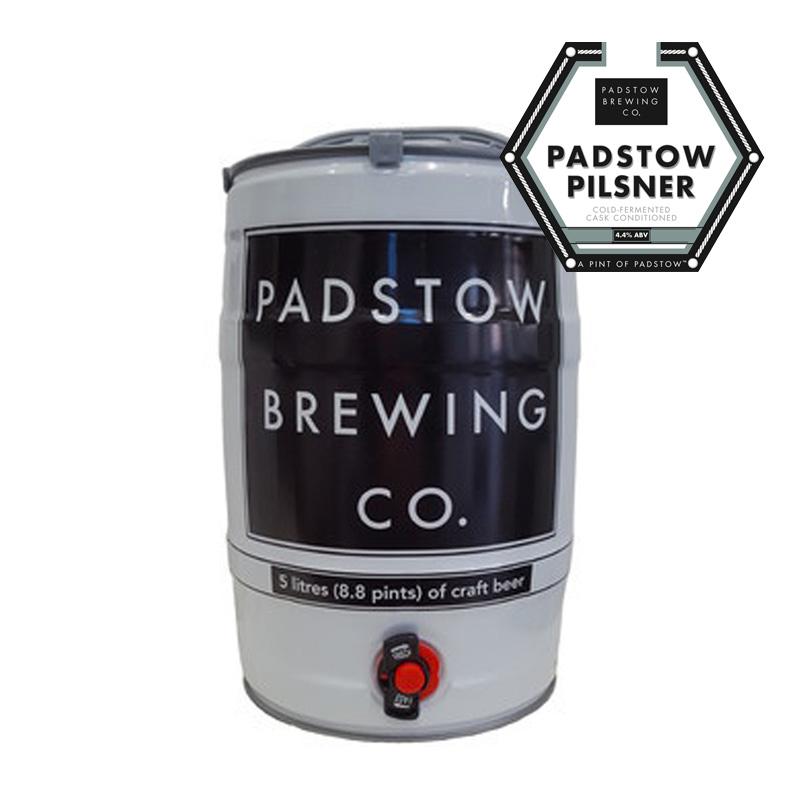 Mini Keg Padstow Pilsner - A refreshing, crisp Pilsner 4.4%