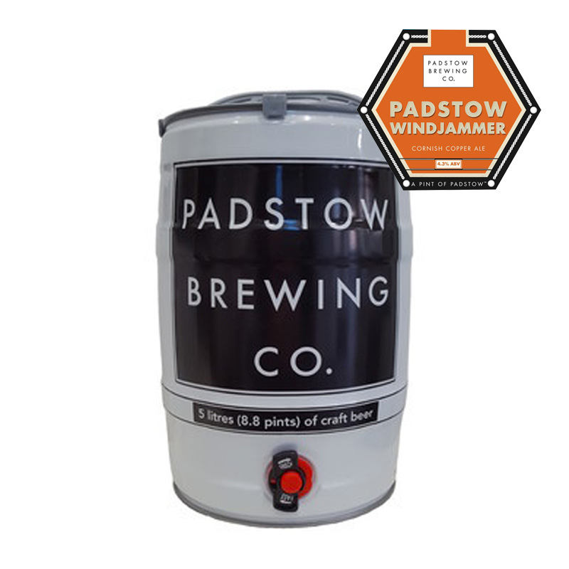 Mini Keg Padstow Windjammer - cornish copper ale