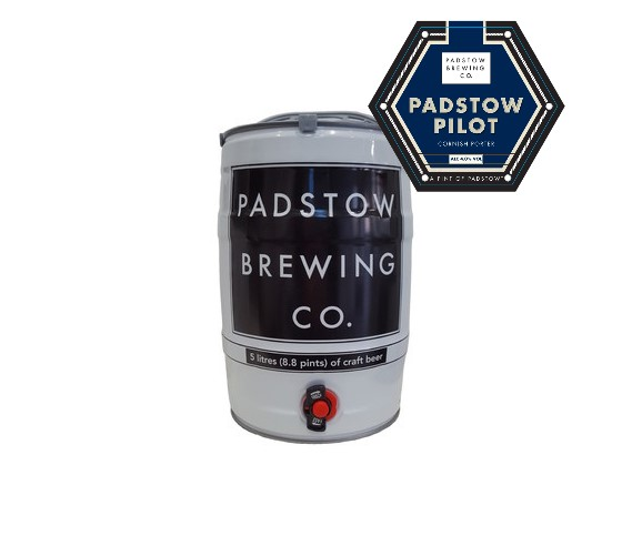 Mini Keg Padstow Pilot - Award winning Cornish Porter 4%